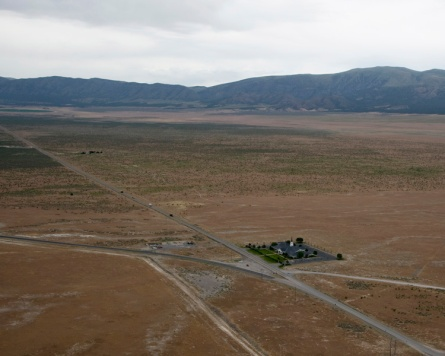 Helicopter flight over U.S. Army Dugway Proving Ground, Utah, June 26, 2014. U.S. Army Photo by Al Vogel, Dugway Public Affairs.